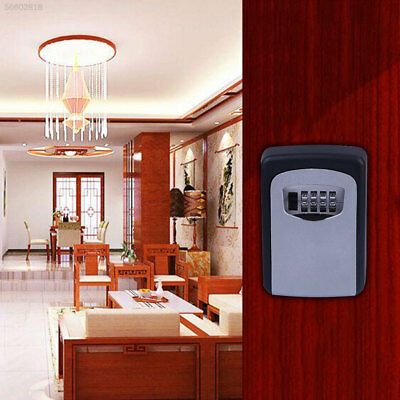 85FD 4-Digit Code Password Combination Lock Wall Mounted Key Safe Lockbox Lock B