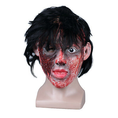 BLOODY ZOMBIE DESIGN SCARY HALLOWEEN FULL FACEMASK HORROR FS021