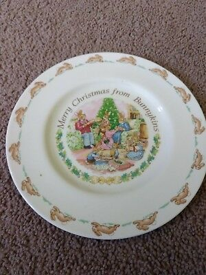 Royal Doulton Merry Christmas from Bunnykins  Plate