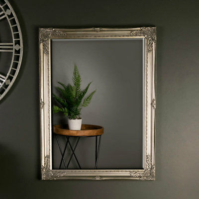 Ornate vintage wall mirror champagne gold shabby French chic living room display