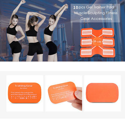791A 10Pcs Pad Sticker Paster Gear Replacement Muscle Sheet Professional