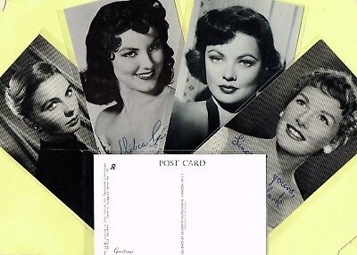 CELEBRITY AUTOGRAPHS - 1950s Film Star Postcards produced in the UK #47 to #136