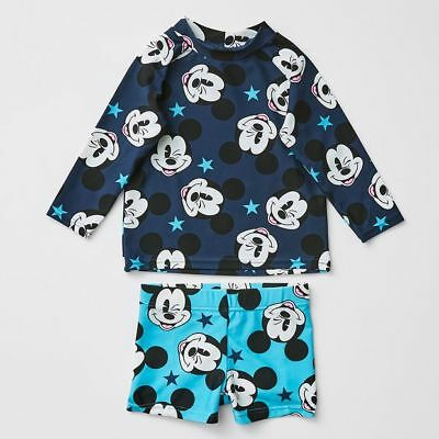 NEW Disney Baby Mickey Mouse Rash Vest Set Kids