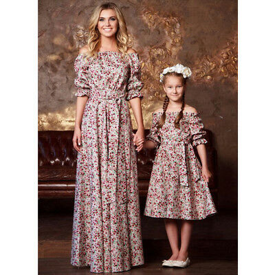 Mother and Daughter Cloth Parent-child dress Family Matching Outfit Long sleeve