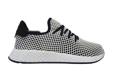 finest selection f3a23 c7f19 Hommes Adidas Deerupt Runner - CQ2626 - Blanches Noires Baskets Bleues