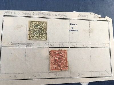 India & States very rare lot mint/used stamps on album pages direct from estate
