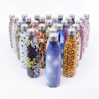 Insulated Water Bottle Vacuum Flask Thermal Sport Chilly Cold Gym Drinking Cup