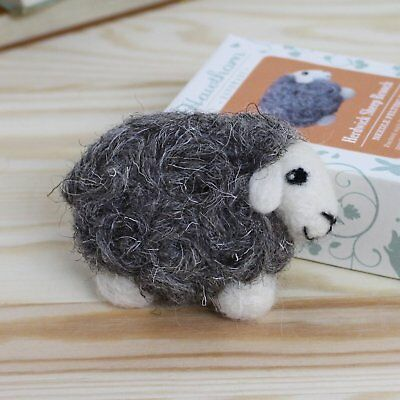 HERDWICK SHEEP needle felt a brooch kit with instructions