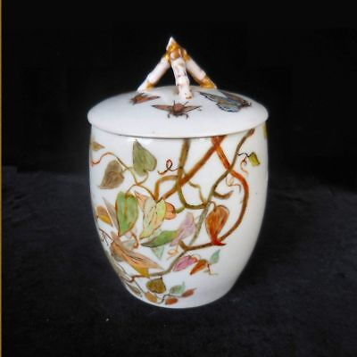 Tressemanes and Vogt handpainted porcelain biscuit jar Limoges France ca. 1890s