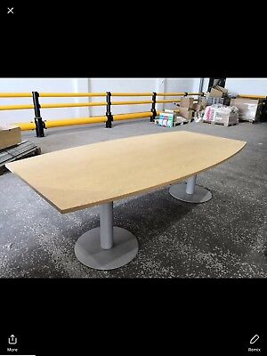 Twin Pedestal Beech Effect Office Conference Table