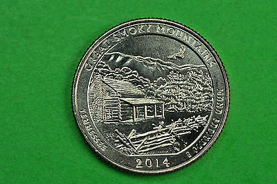 2014-P   BU Mint State (Great Smoky Mountains) US National Park Quarter
