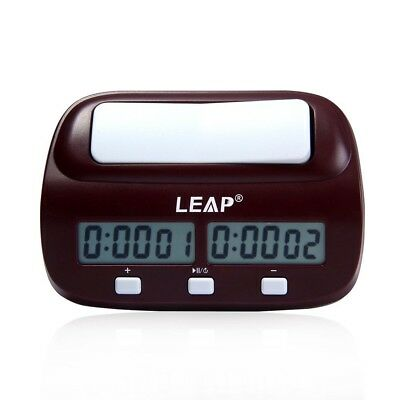 LEAP Digital Chess Timer Clock - Mini Multifunctional Compact Count Up Down