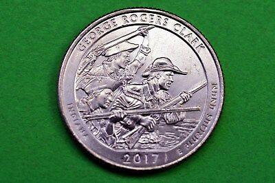 2017-D   BU  Mint State ( George Rogers Clark ) US National Park Quarter