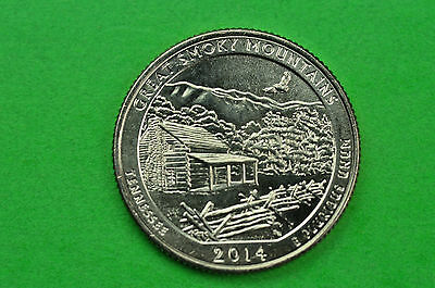2014-S  BU Mint State (Great Smoky Mountains) US National Park Quarter