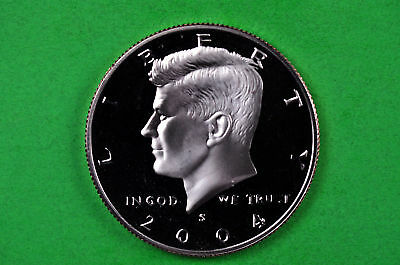2004-S Kennedy Half Dollar Deep Cameo US GEM Proof Coin (C/N Clad)