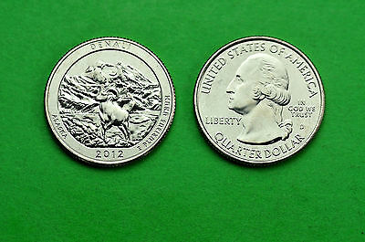2012- P&D  BU Mint State (Denali) US National Park Quarters (2 Coins)