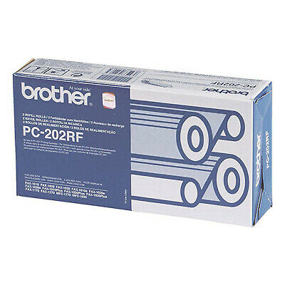 Original Brother Pc-202Rf Fax Rolls Twin Pack (Pc202Rf) For Brother Fax Machines