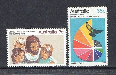 Australia 1972-Christmas Issue Complete Set Of 2 Muh