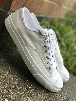 Converse Jack Purcell Ox Mens Casual Shoe Off White W/ Nike Zoom 157877C Sz 10.5