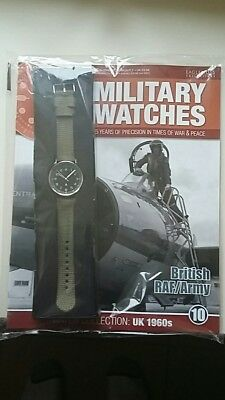 BN Eaglemoss Reproduction Quartz 1960s RAF / Army Watch and Magazine Sealed