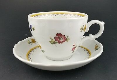 Vintage Hutschenreuther Germany Tea Cup and Saucer Floral Design