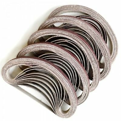 30 X Sanding Belts To Fit air powered Powerfile 10 x 330 mm 100% Fit Rate