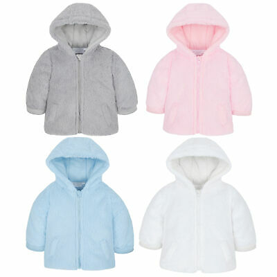 Baby Unisex Coat Jacket Newborn Fluffy Hood Zip Up Warm Puffer Girls Boys Winter