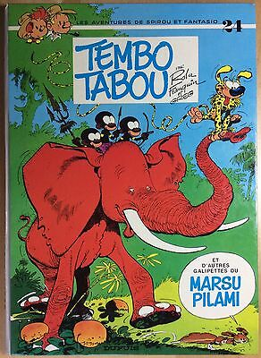SPIROU AND FANTASIO Tome 24 Tembo Tabou EO 1974 Mint