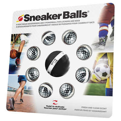 8 Hockey Sports Deodorizers by Sneaker Balls with PowerBall for Lockers, Closets