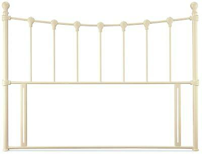 Ivory white traditional antique style metal tubular bed head end