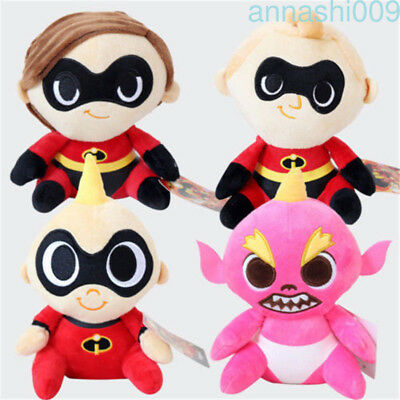 """The Incredibles 2 Mrs Mr Incredible Baby Jack-Jack 20cm 8"""" Plush Toy Doll Gift"""