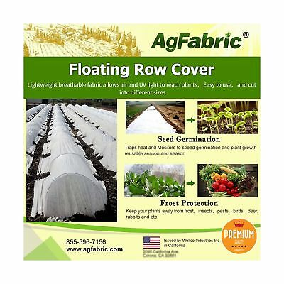 Agfabric Floating Row Cover & Plant Blanket, 1.5oz Fabric for Frost Protectio...