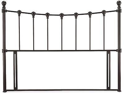 Black traditional antique style metal tubular bed head end