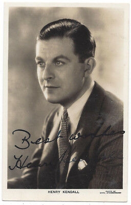 HENRY KENDALL THEATRE & Film Actor, Signed RP Postcard c1930 ...