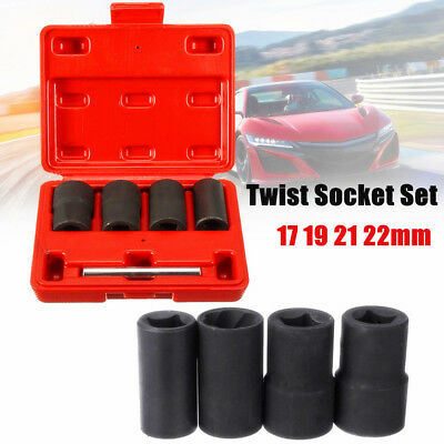 5Pcs/Set Twist Socket Kit Drive Wheel Lock Lug Nut Remover Removal Tool Hot Sale