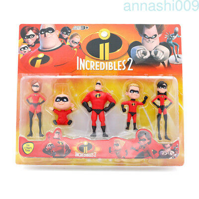 The Incredibles 2 Action Figure Model Set 5pcs Kids Toy Gift Super Family Pack