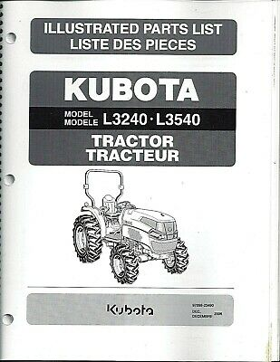 KUBOTA L2200 TRACTOR Parts Manual - $54 00 | PicClick