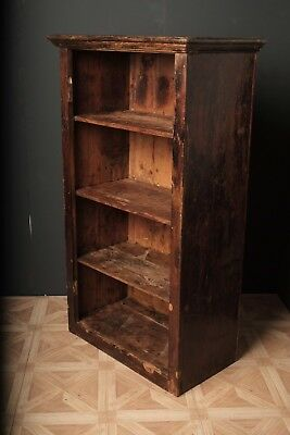 Late 18th C Oak 4 shelf bookcase with panelled back
