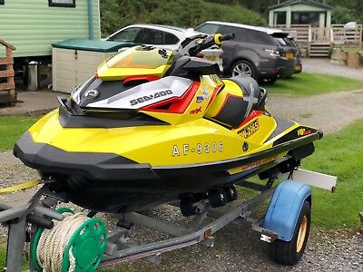 seadoo rxpx 260 2015 on indespension trailer with sand tyres