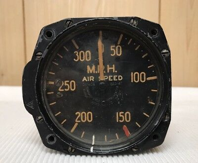 Vintage CANADIAN AIRCRAFT Instruments AIR SPEED MPH Gauge Indicator Military