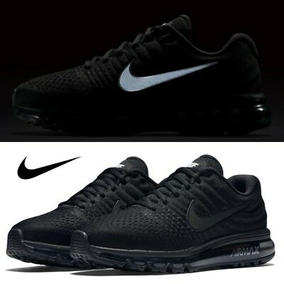 e9da1b6e5083 NIKE Men s Air Max 2017 Athletic Running Shoe Black 849559-004 Size 7-13