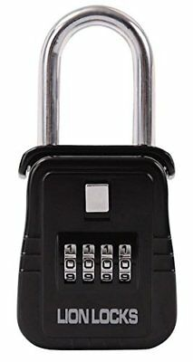 Lion Locks 1500 Key Storage Lock Box - Set Your Own Combination, Black