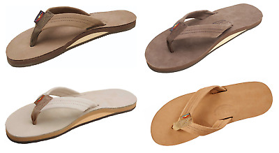 Rainbow Sandals Men's Single Layer Premier Leather with Arch Support