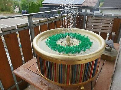 Zimmerbrunnen 70er J.,Space Age,,original DDR/VEB,,70ies GDR table fountain