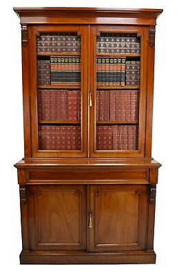 Antique / Victorian Mahogany Library Bookcase Circa 1870