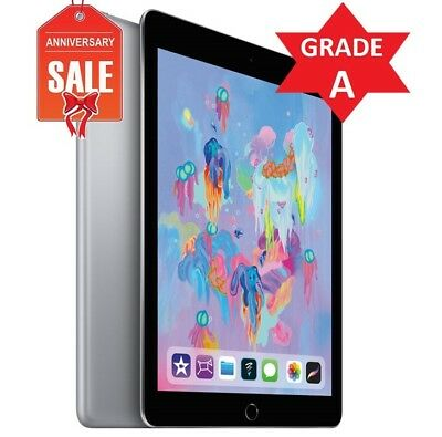 Apple iPad 6th Gen. 2018 - 128GB, Wi-Fi, 9.7in - Space Gray - GRADE A (R)
