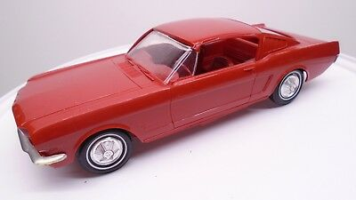 1965 Ford Mustang Fastback Dealer Plastic Promo Car Toy 1/25 Model Amt Red