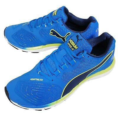 Puma Mobium ELite Speed V2 Blue Yellow Mens Running Shoes Sneakers 188154-01