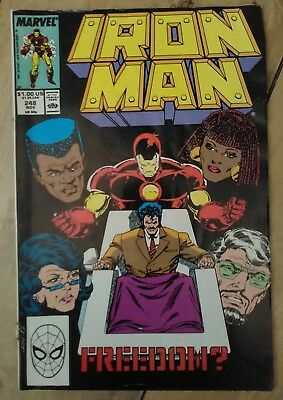 Iron Man #249 1989 VF Marvel Avengers Comics Discount & 25+ FREE P&P