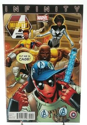 Mighty Avengers #1 Greg Land Deapool Party Variant Cover Marvel Comics Infinity